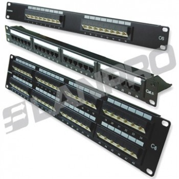 PATCH PANEL 12 PTOS C5E LANPRO RACK