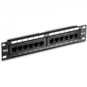 PATCH PANEL 12 PTOS CAT 5E TRENDNET 25CM