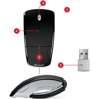 MOUSE ARC MAC/WIN USB EN HDWR